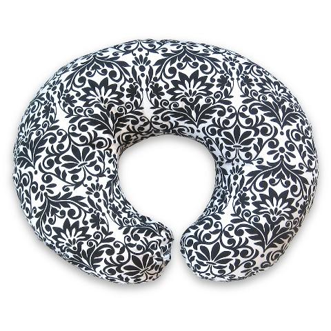 Boppy Slipcovered Nursing Pillow - Black and White Brocade