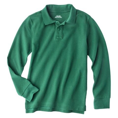 Cherokee® Boys' School Uniform Long-Sleeve Pique Polo