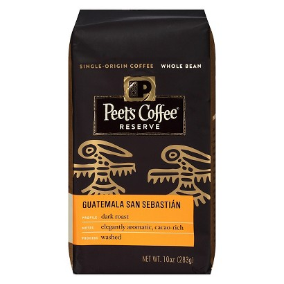 Peet's Coffee Reserve Guatemala San Sebastian Dark Roast Whole Bean Coffee 12 oz