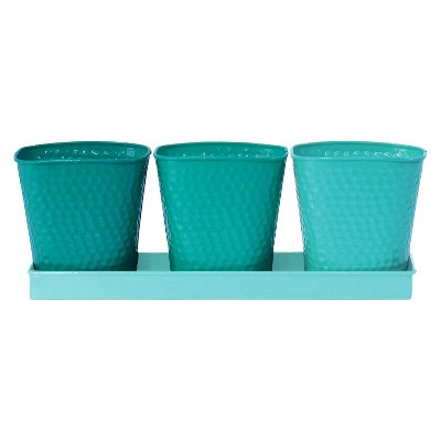 Ecom Floor Planter RAllen Rectangle Blue 11.25in