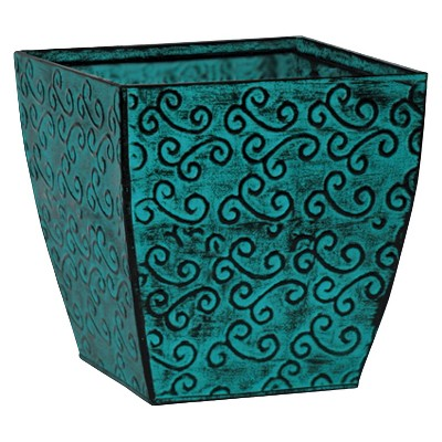 Ecom Floor Planter RAllen Square Blue 8.25in