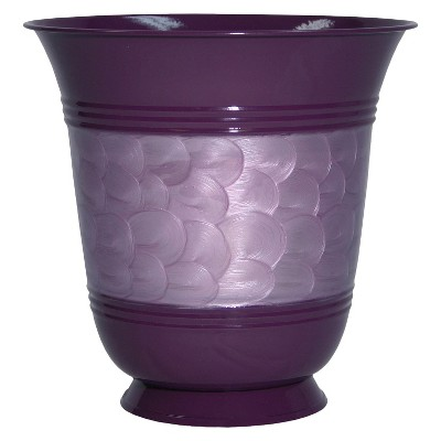Ecom Floor Planter RAllen Oval Purple 8.5in