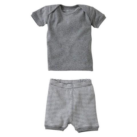 Burts Bees Baby™ Newborn Neutral 2 Piece Top and Bottom Set - Grey