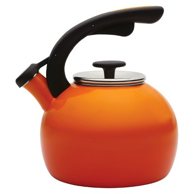 Rachael Ray 2 Qt. Crescent Whistling Teakettle - Orange