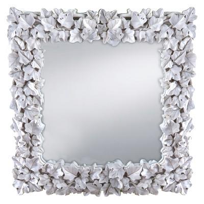 Prinz Wall Mirror Square  - White (12X12)