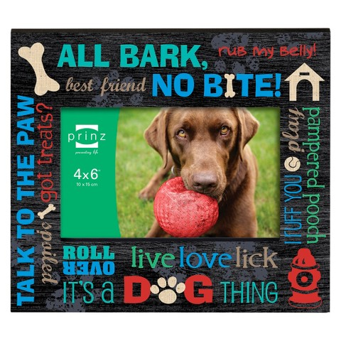 Prinz Single Dog Image Frame - Black (6X4)