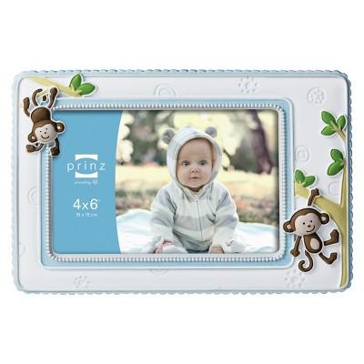 "Prinz Baby Monkey 4""x6"" Frame - White/Blue"