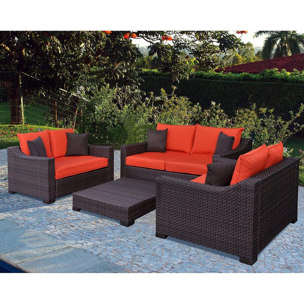 Patio seating set atlantic furniture new orleans 4 piece for Outdoor furniture new orleans