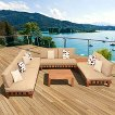 Mumbai 6-Piece Wood Patio Sectional Seating Furniture Set