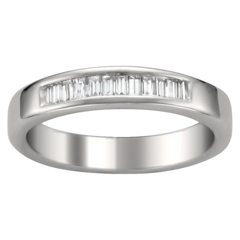 1/4 CT. T.W. Baguette Diamond Band Channel Set Ring in 14K White Gold (G-H, VS1-VS2)