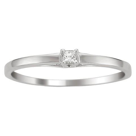 0.06 CT.T.W. Princess-Cut Diamond Anniversary Ring in 10K White Gold