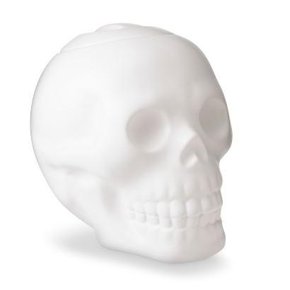 Image of Halloween Skull Ceramic Cookie Jar - White