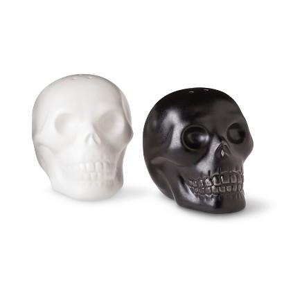 Image of Halloween Ceramic Skull Salt & Pepper Shakers