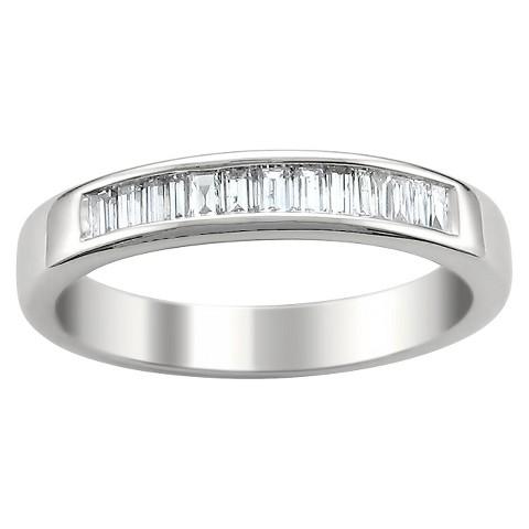 1/2 CT. T.W. Baguette Diamond Band Channel Set Ring in 14K White Gold (G-H, VS1-VS2)