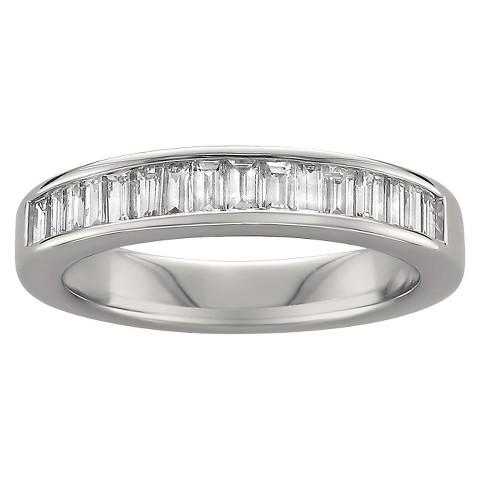 3/4 CT. T.W. Baguette Diamond Band Channel Set Ring in 14K White Gold (G-H, VS1-VS2)