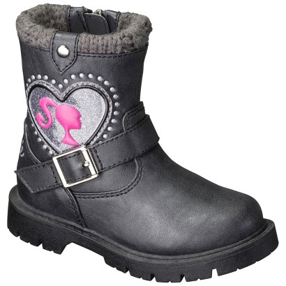 Toddler Girl's Barbie Fashion Boots - Black