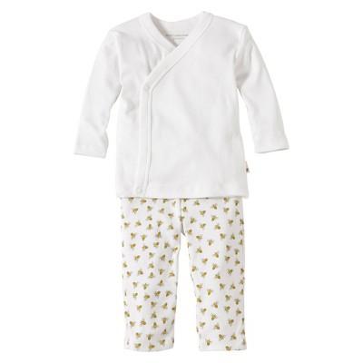 Burts Bees Baby™ Newborn Neutral 2 Piece Kimono Top and Bottom Set - Cloud 0-3 M