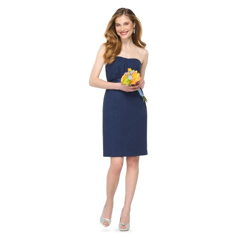 Women's Lace Strapless Bridesmaid Dress - TEVOLIO&#153
