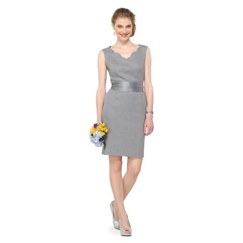 Women's Lace Sleeveless V-Neck Bridesmaid Dress - TEVOLIO&#153