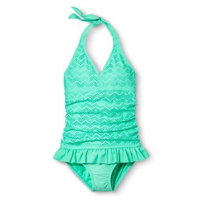 Girls' 1-Piece Skirted Swimsuit