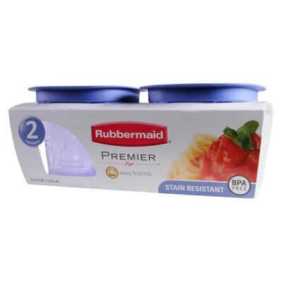 Rubbermaid Premier Container Tint 0.5 cup 2 pk