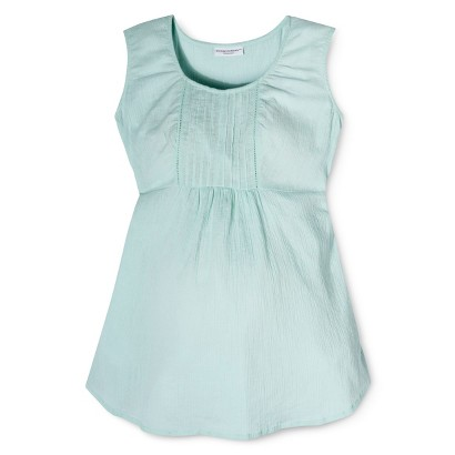 Maternity Sleeveless Embroidered Top