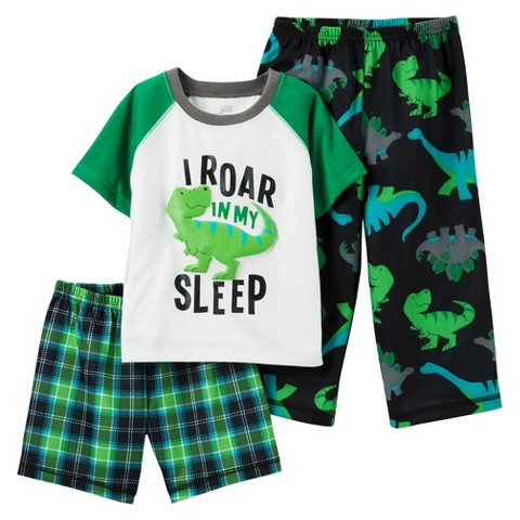 Just One You™ Made by Carter's&#174 Toddler Boys' 3-Piece Mix & Match Dino Pajama Set