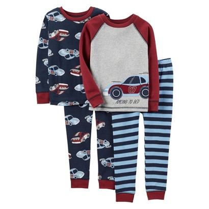 Just One You™Made by Carter's® Infant Toddler Boys' Pajama Set - Heather Grey/Black