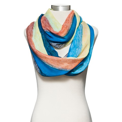 Wide Striped Infinity Scarf