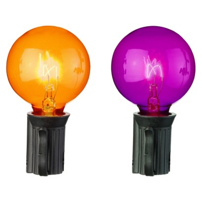 Image of Halloween 25ct Globe Lights - Orange and Purple