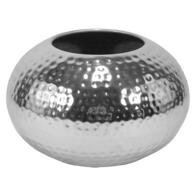 Vase Thrshd Metal 6.3in