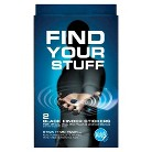 Find My Stuff with 2 Black Finder Stickers for iPhone/Android Devices