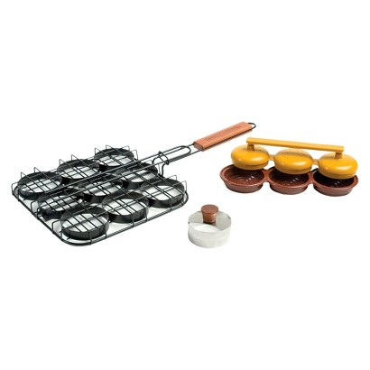 Charcoal Companion Deluxe Mini-Burger Set