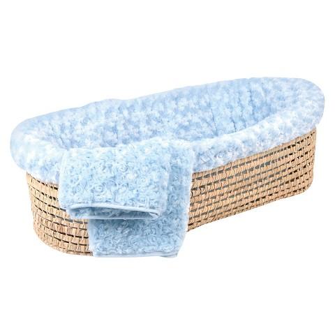 Tadpoles Twisted Fur Baby Moses Basket Set
