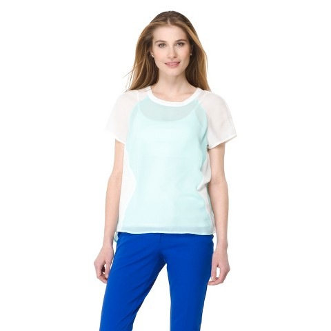 Mossimo® Women's Colorblocked Woven Tee - Assorted Colors