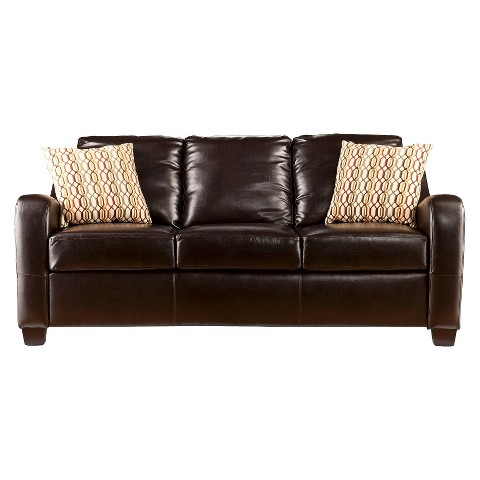 Southern Enterprises Montfort Stationary Sofa - Chocolate