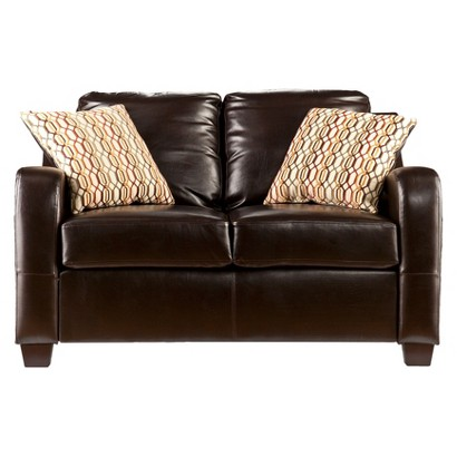 Southern Enterprises Montfort Stationary Loveseat - Chocolate