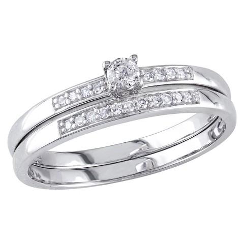 Tevolio 0.2 CT.T.W. Round Diamond Prong Set Wedding Ring in 10K White Gold (GH I2:I3)