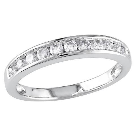 Tevolio 0.5 C.T. T.W. Round Diamond Eternity Channel Set Ring in 14K White Gold (GH I2:I3)