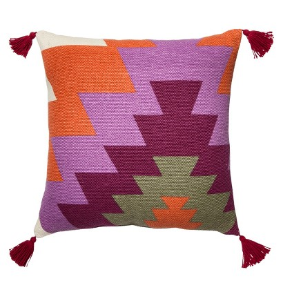 "Mudhut Handwoven Toss Pillow (18x18"")"