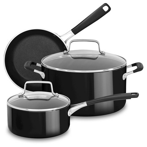 Kitchenaid 5 piece aluminum non stick set a k target - Kitchenaid aluminum nonstick piece cookware set ...