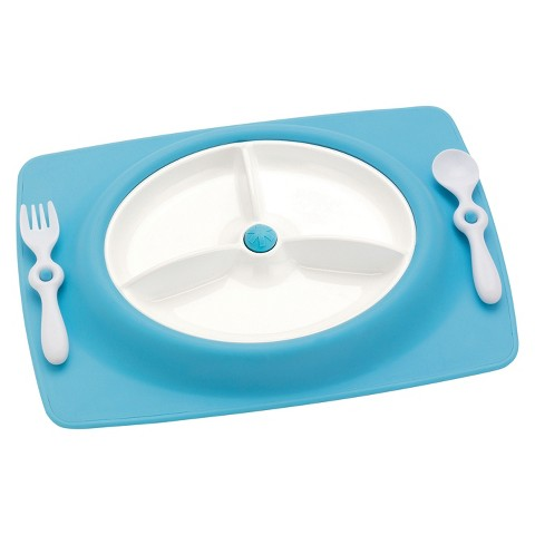 Skip Hop Mate Stay-Put Mat-Plate and Utensil Set