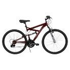 """Huffy DS-3 26"""" Men's Dual Suspension Bike - Dark Red"""