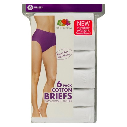 Fruit of the Loom® Women's 6-Pack Bikini Briefs - White