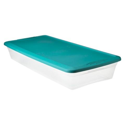 41 Qt Clear Plastic Storage Bin - Blue - Room Essentials™