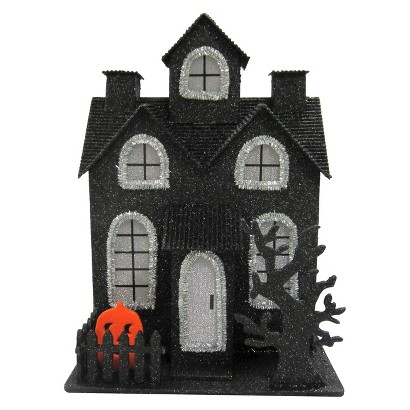 "Image of Halloween LED Light-Up Haunted House - 12.5"""