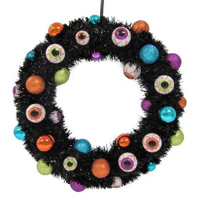 """Image of Halloween Multicolored Eyeball Wreath - 16"""""""