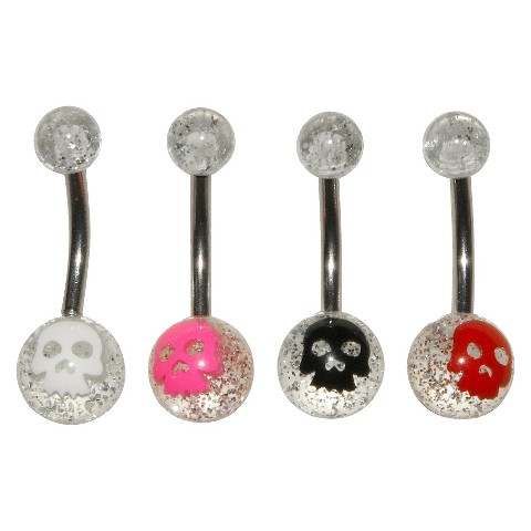 Women's Supreme Jewelry™ Curved Barbell Belly Ring - Multicolor