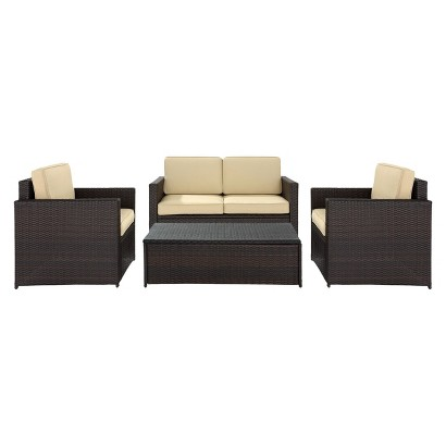 Palm Harbor 4-Piece Wicker Conversation Furniture Set