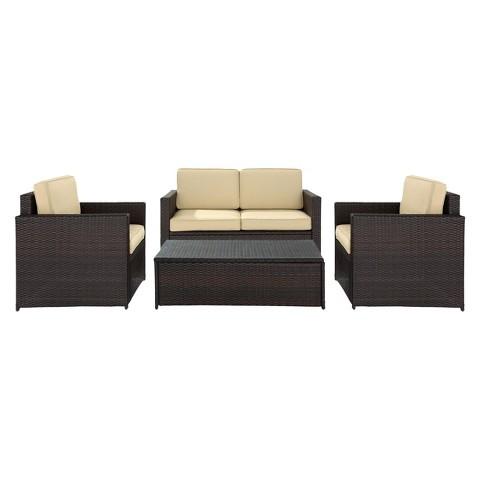 Palm Harbor 4-Piece Wicker Conversation Furniture Set